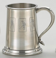 1 Pint Tankard, Satin, with embossed logo