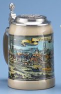 Nuernburg Stein, embossed Old Germany Lid