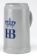 HB Salt Glazed 1.0 Liter Mug