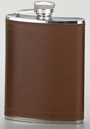 7 oz. Brown Leather Flask