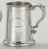 Pewter Classic Tankard w/engravable oval