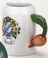 20 oz Radish Handle Salt Glaze Kannenbaecker Mug