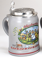 Oktoberfest Decal Decorated Salt Glaze Kannenbaecker Mug